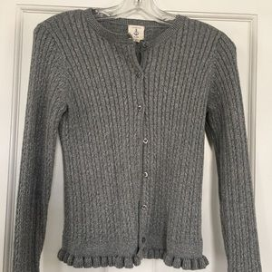 Girls sweater. Grey and silver.
